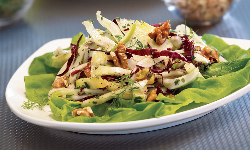 Fennel and Radicchio Salad with Walnuts