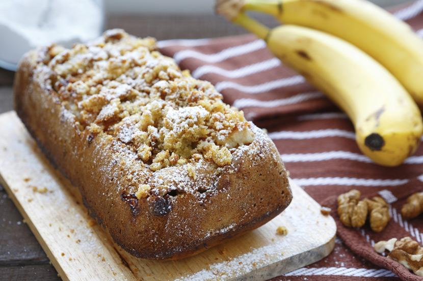 초보 홈 베이킹, 크런치 바나나 호두빵 레시피