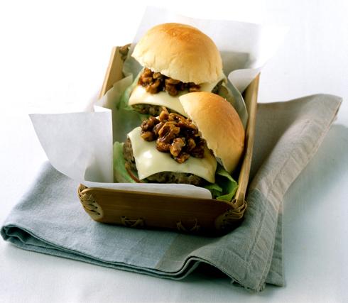 건강 햄버거 만들기, 미니 호두 햄버거 레시피