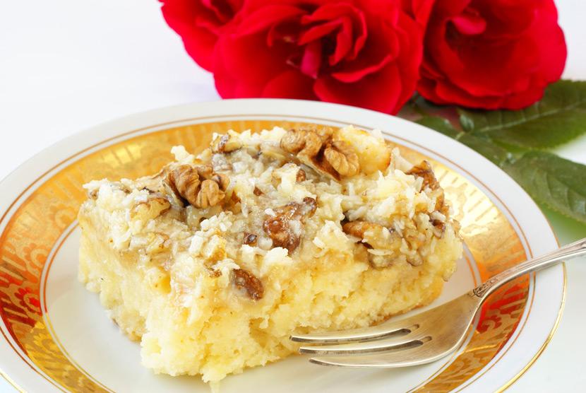 케이크에 고소한 맛을 더하는 호두 코코넛 토핑 레시피