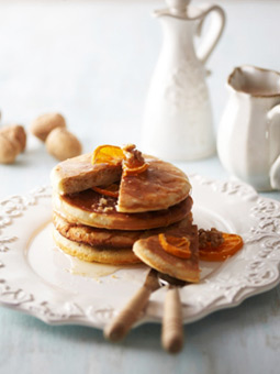 간단하지만 든든한 호두 귤 팬케이크와 호두두유 레시피