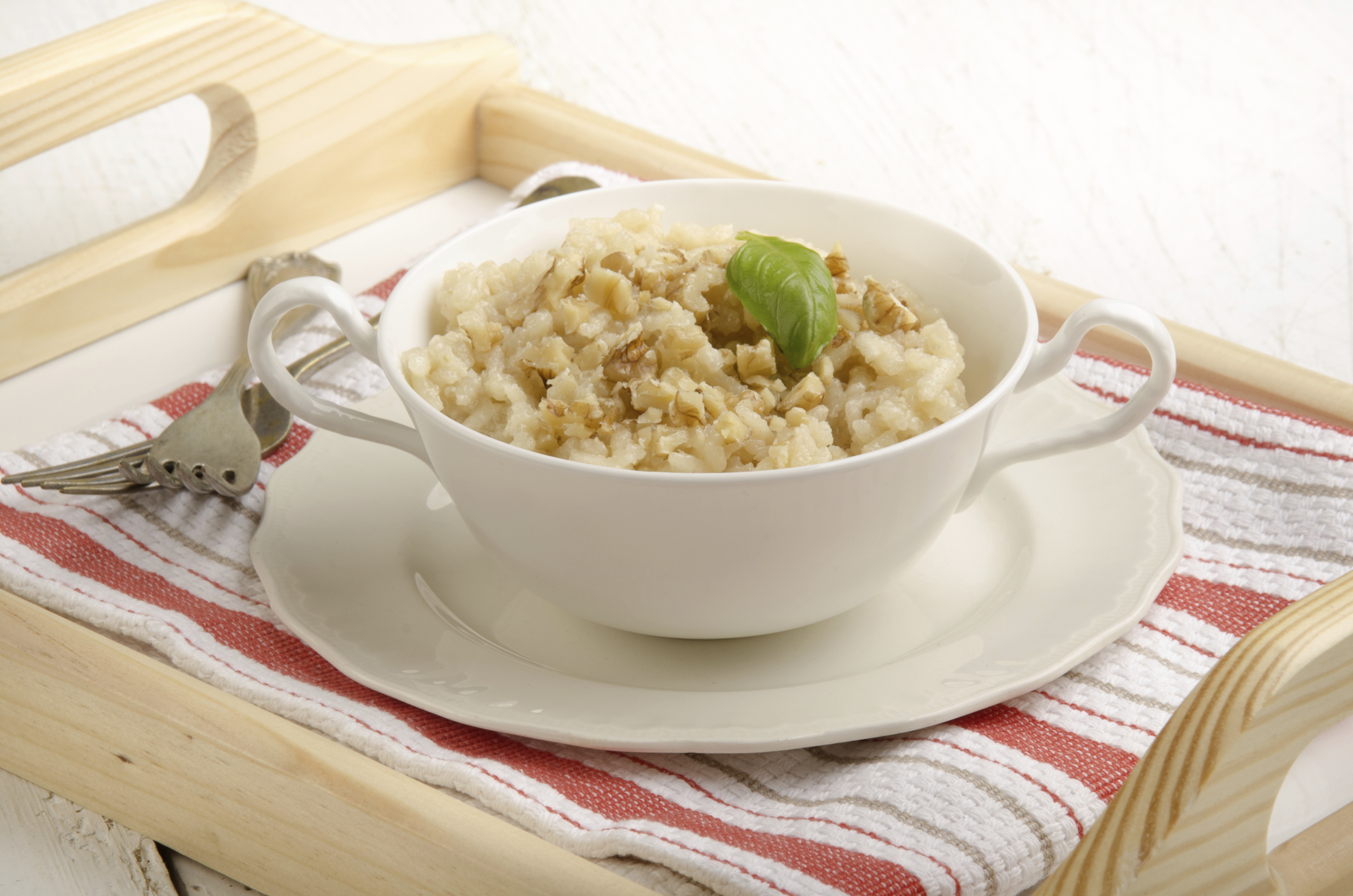 california walnut mushroom risotto