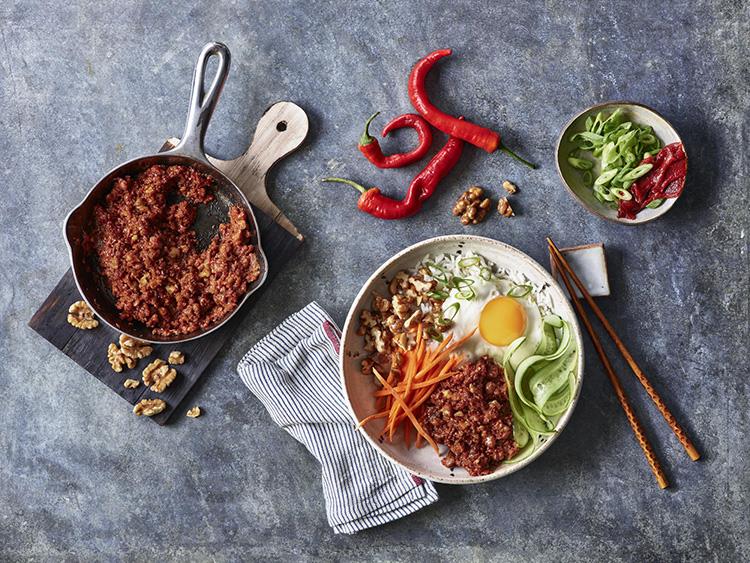 Vegan Vegetarian Meatless Korean Bulgogi Bowl Bibimbap